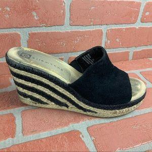 ELLEMENNO Striped Wedges Vintage 90s Chunky Y2k